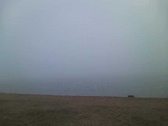 五里霧中。
